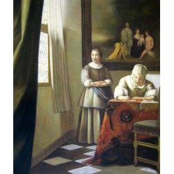 Chica escribiendo una carta de Vermeer
