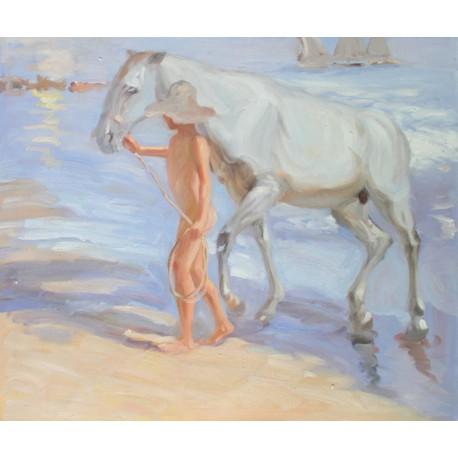 El baño del caballo de Sorolla