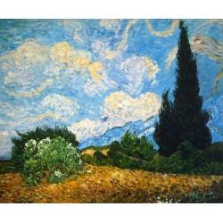 Campo de trigo con cipreses de Van Gogh