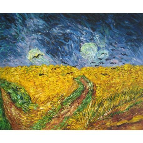 Campo de trigo con cuervos de Van Gogh