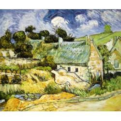 Casitas con tejado de paja de Van Gogh