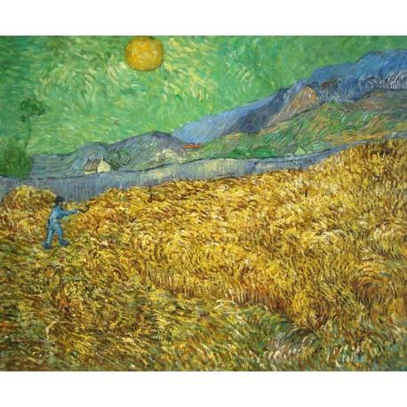 Campo de trigo con segador de Van Gogh
