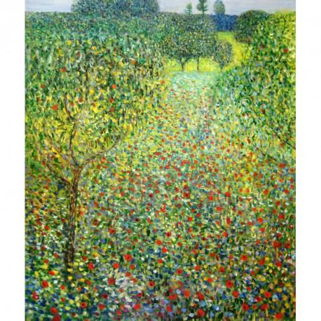 Campo de amapolas de Klimt