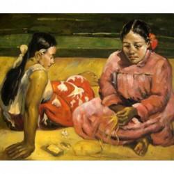 Dos mujeres tahitianas de Gauguin