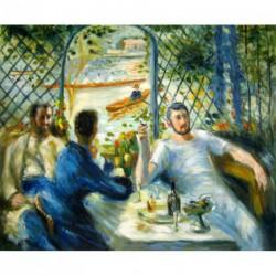 Desayuno en el Restaurante Fournaise de Renoir
