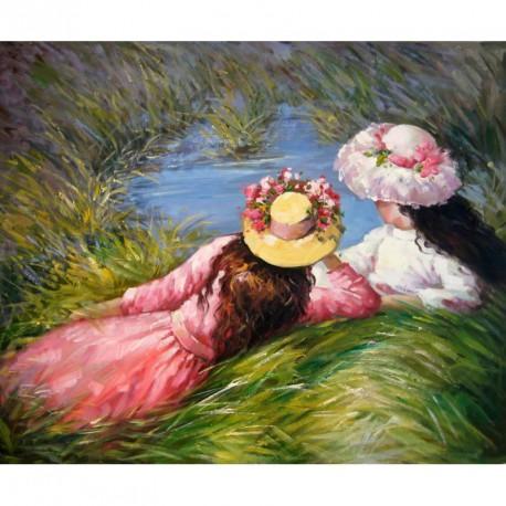 Descansando en el prado de Renoir