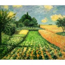 Campos de trigo en Argenteuil de Sisley