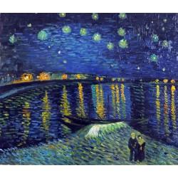 Noche estrellada sobre el Ródano de Van Gogh