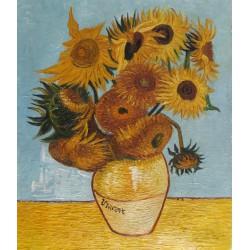 Jarrón con doce girasoles de Van Gogh