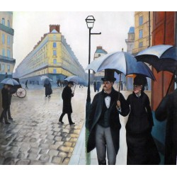 Calle de París, día lluvioso de Caillebotte