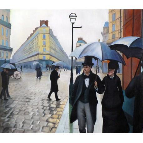Calle de París con lluvia de Caillebotte