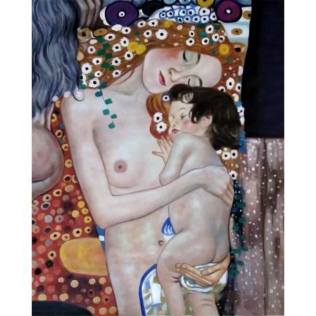 Las tres edades de la mujer (detalle) de Klimt