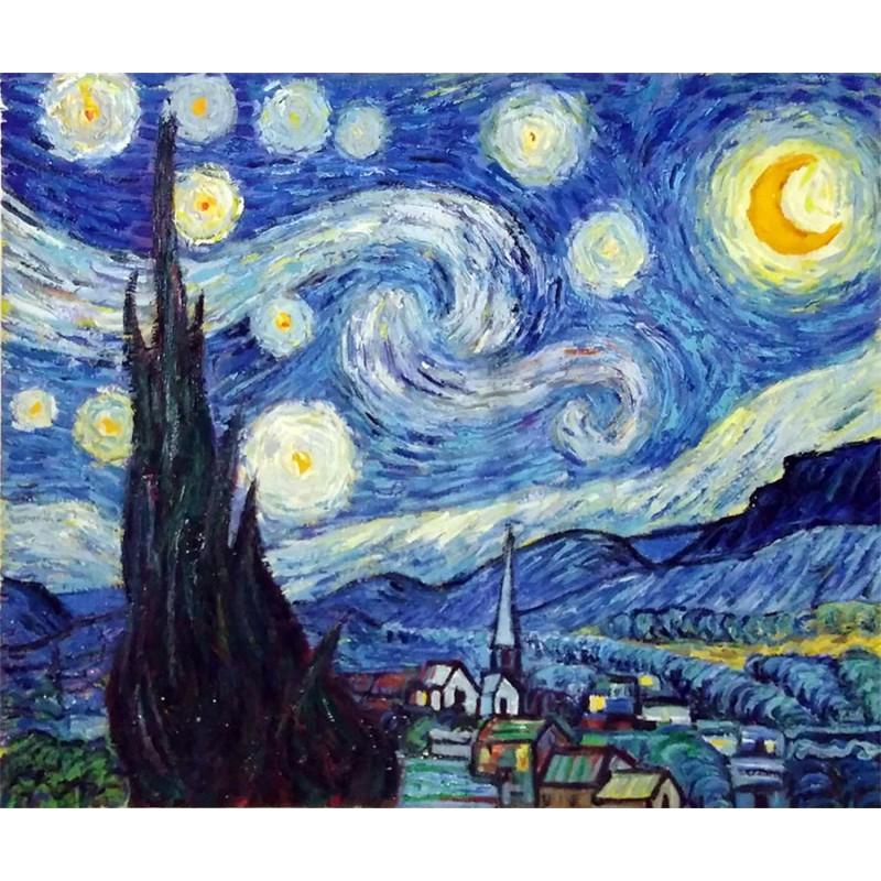 La Noche Estrellada De Van Gogh Artefamoso Copias De Cuadros De Van Gogh Al 243 Leo Hechas A Mano