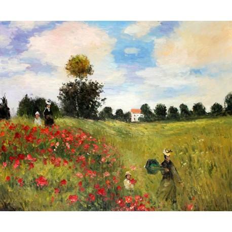 Amapolas en Argenteuil de Monet