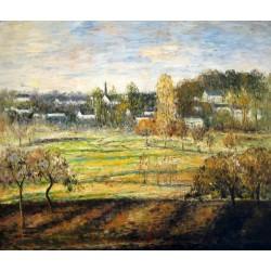 Anochecer en febrero de Pissarro
