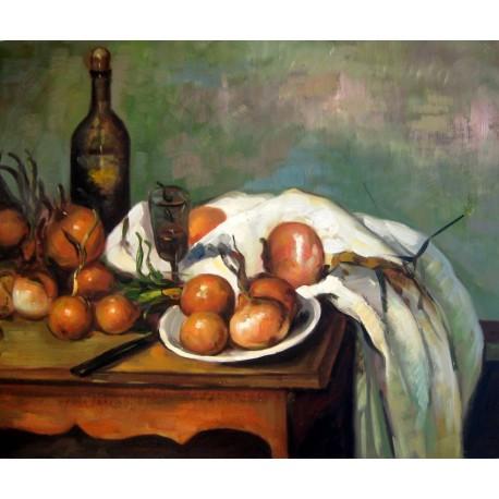 Bodegón con cebollas de Cézanne