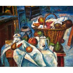 Bodegón con cesto de Cézanne