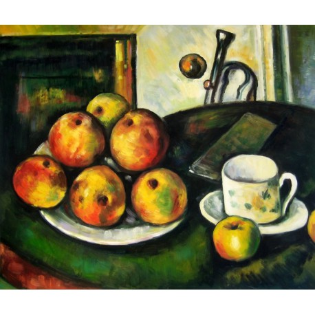 Bodegón con manzanas y taza de Cézanne
