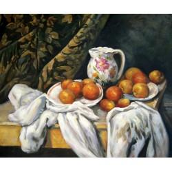 Bodegón con pañería de Cézanne