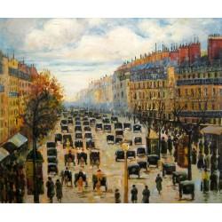 Boulevard en Montmartre al atardecer de Pissarro