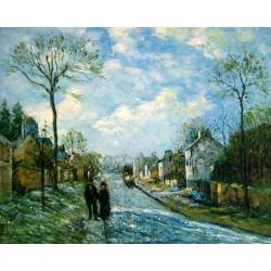 El camino de Louveciennes de Pissarro