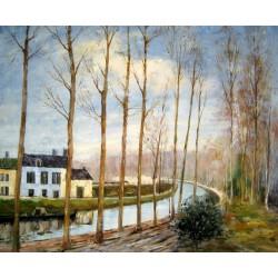 El canal de Loing en Moret de Sisley