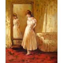 El espejo de vestir de Morisot