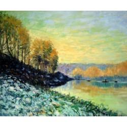 El Sena en invierno en Bougival de Sisley