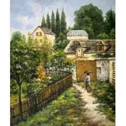 El sendero del jardín en Louveciennes de Sisley