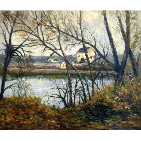 El sendero junto al lago de Pissarro