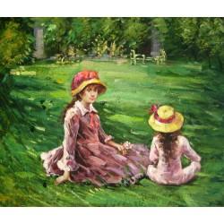 En el jardín de Maurecourt de Morisot