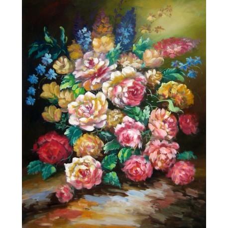 Flores artefamoso copias de cuadros de flores al leo for Donde puedo comprar cuadros decorativos