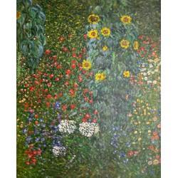 Girasoles en el jardín de Klimt