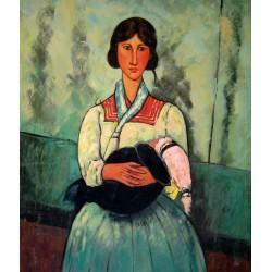 Gitana con niño de Modigliani