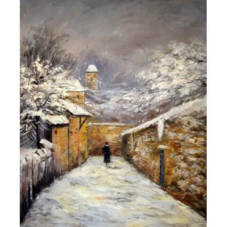 Invierno en Louveciennes de Sisley