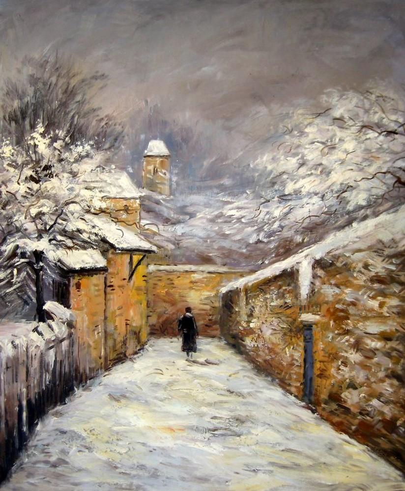 Invierno en Louveciennes de Sisley | Artefamoso | Copias de cuadros ...