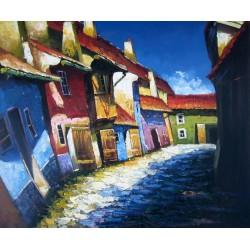 La callejuela del viejo barrio de Praga