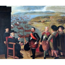 La defensa de Cádiz frente a los ingleses de Zurbarán