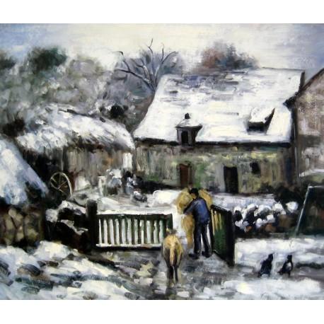 La granja en Montfoucault de Pissarro