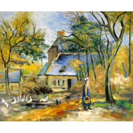 La granjera de Montfoucault de Pissarro