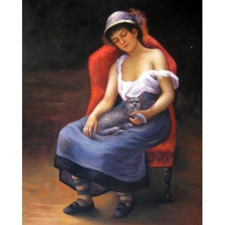 La joven risueña de Renoir