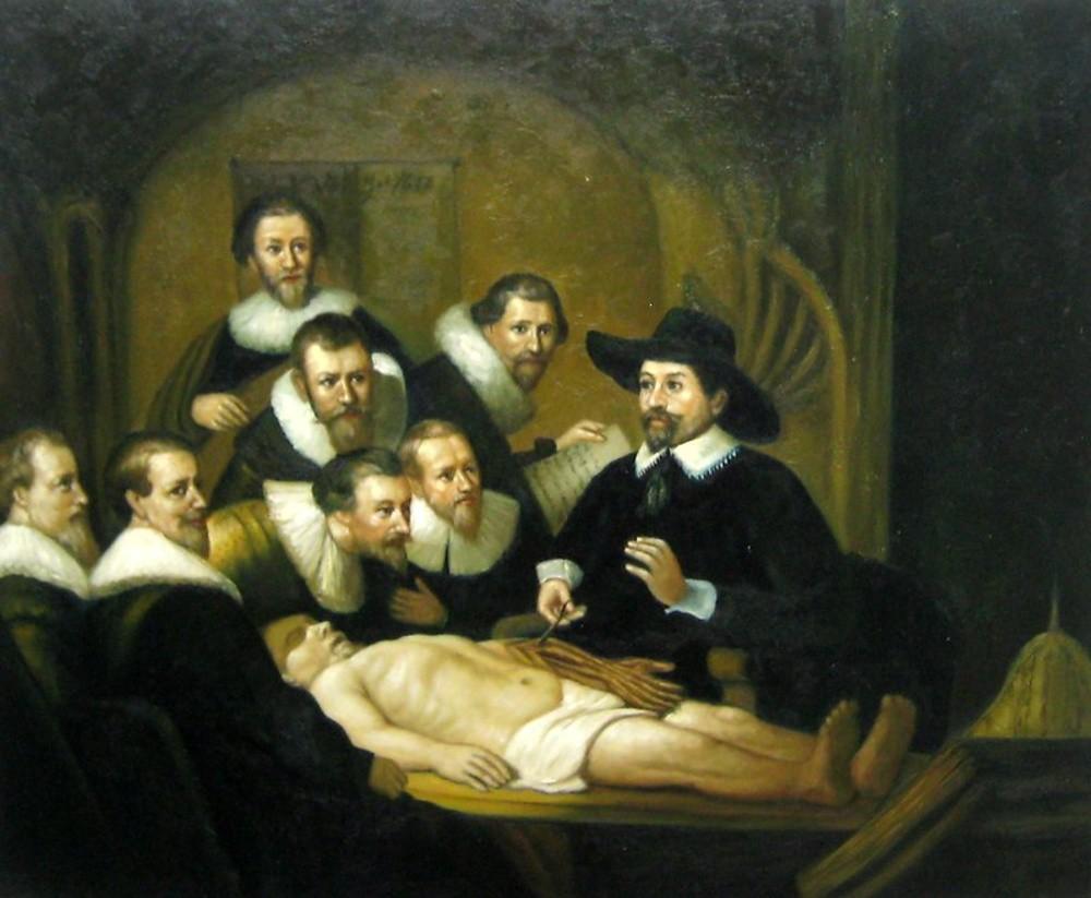 La lección de anatomía del Doctor Tulp de Rembrandt | Artefamoso ...