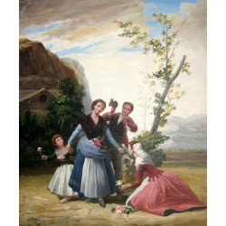 La primavera o Las floreras de Goya