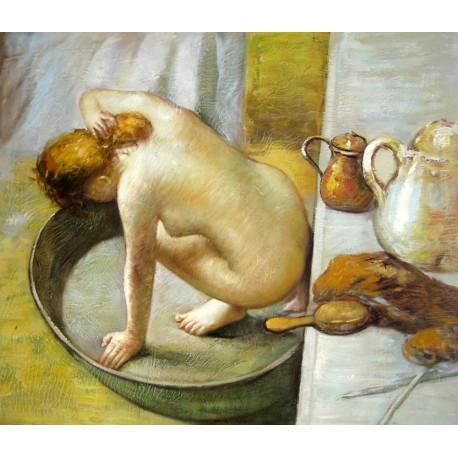 La tina, la bañera (the tub) de Degas