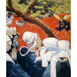 La visión después del sermón o La lucha de Jacob con el ángel de Gauguin