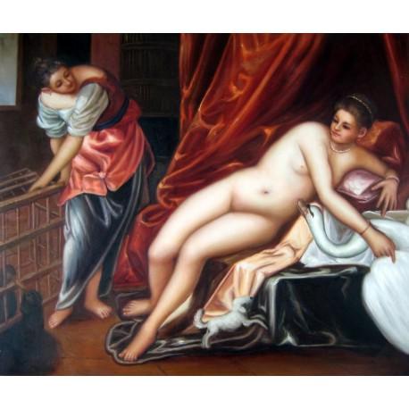 Leda y el cisne de Tintoretto