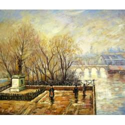 Louvre, mañana brumosa de Pissarro