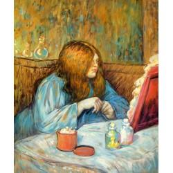 Madame Poupoule en su tocador de Lautrec