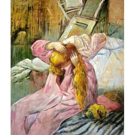 Mujer peinándose de Lautrec