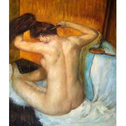 Mujer peinándose el cabello de Degas